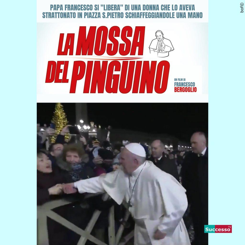 le cartoline di successo tv 2020 satira parodia cinema papa francesco la mossa del pinguino