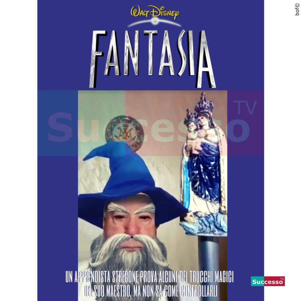 le cartoline di successo tv 2020 messa online diretta facebook fantasia disney