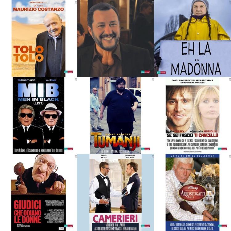 successotv satira parodia cinema best nine 2019
