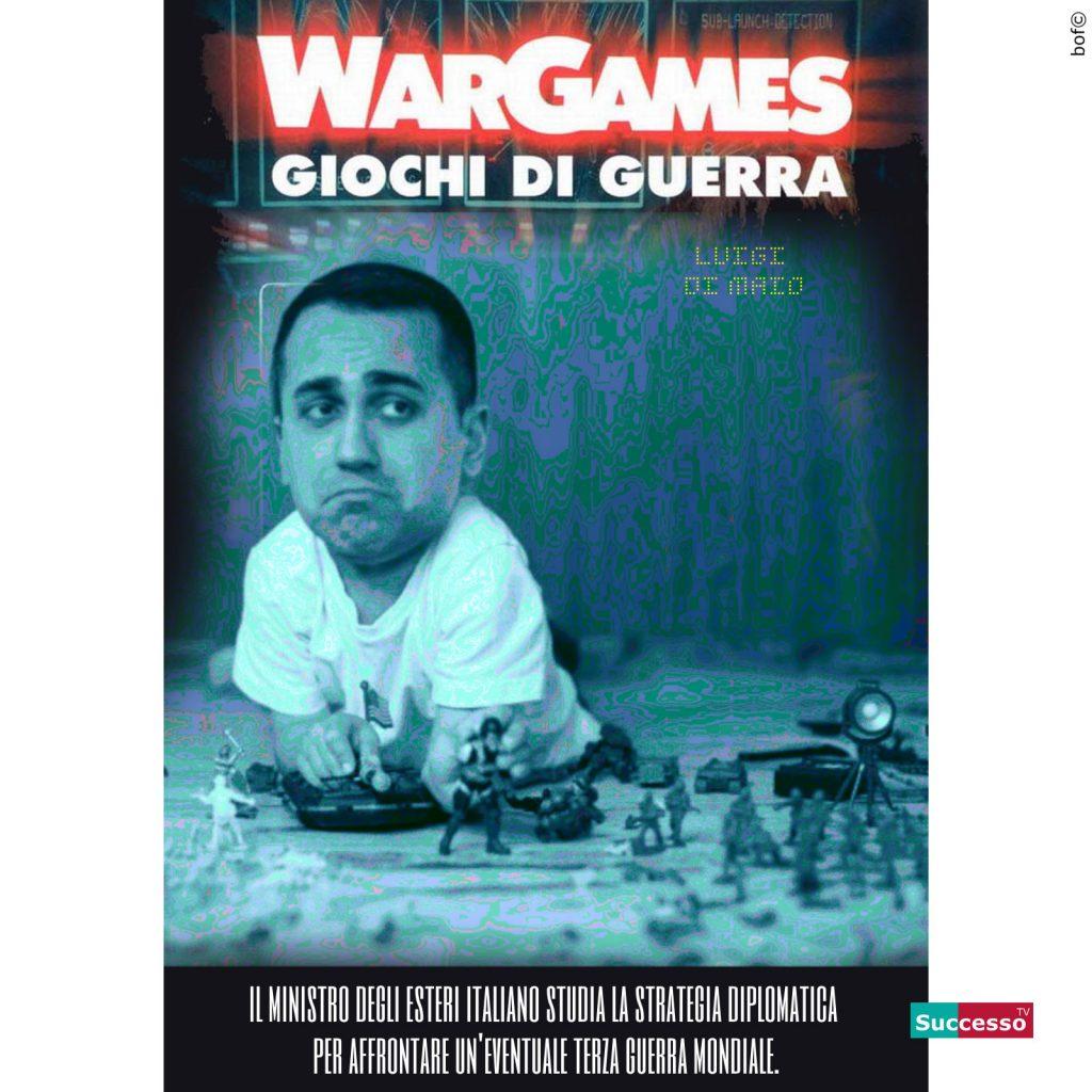 le cartoline di successo tv 2020 satira parodia cinema di maio war games