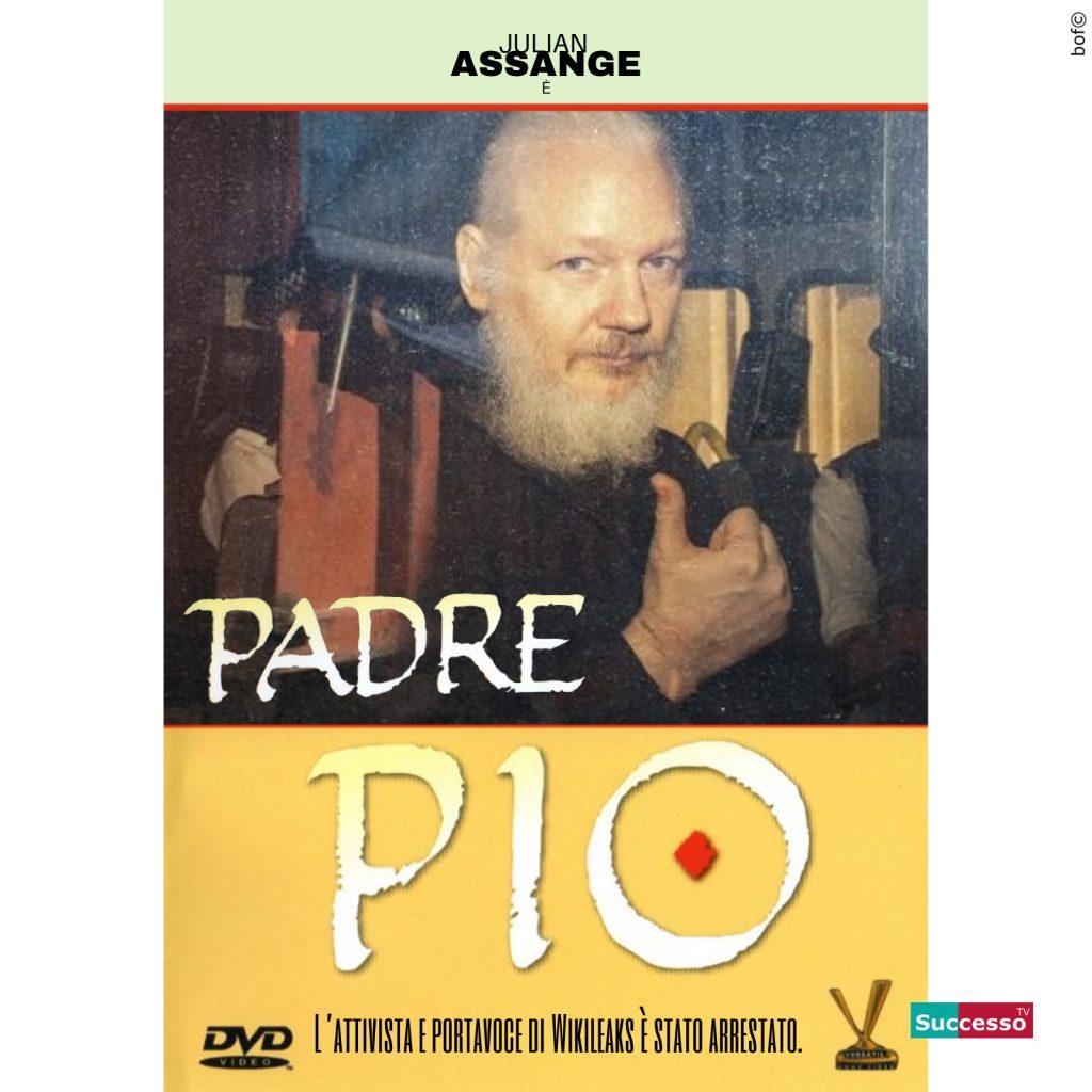 Le cartoline di Successo TV Julian Assange Padre Pio