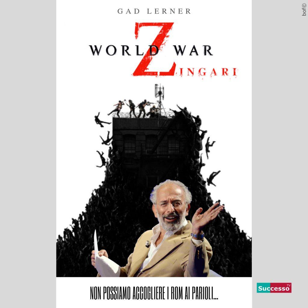 Gad Lerner - World war successo tv satira parodia