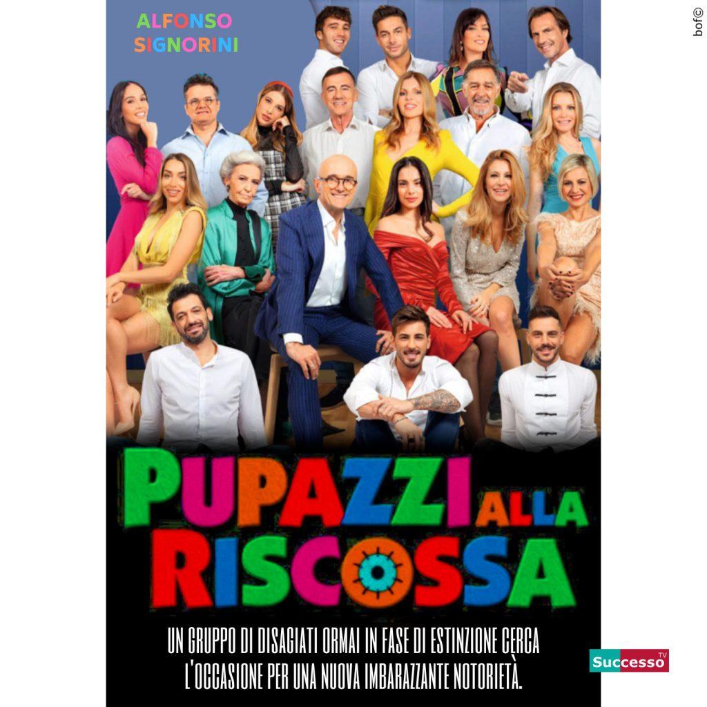 le cartoline di successo tv 2020 gfvip pupazzi alla riscossa