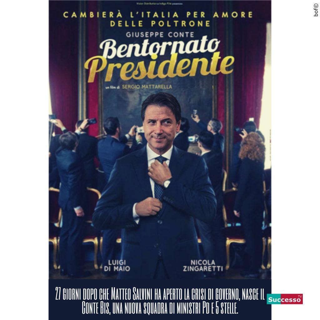 successotv satira parodia cinema bentornato presidente giuseppe conte