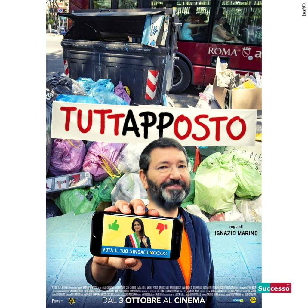 successotv satira parodia cinema ignazio marino virginia raggi sindaco roma