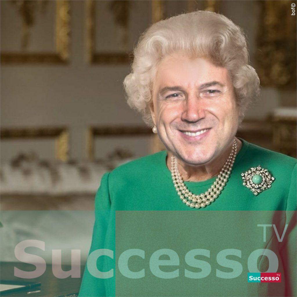 le cartoline di successo tv 2020 giuseppe conte regina elisabetta