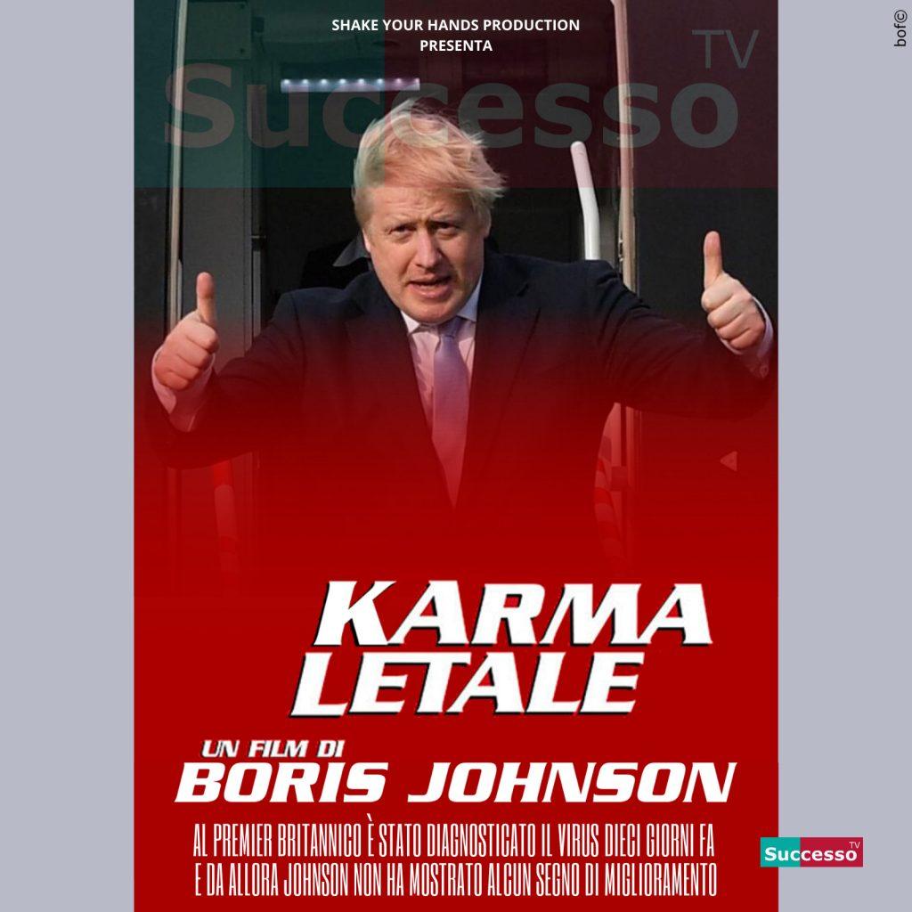 le cartoline di successo tv 2020 boris johnson coronavirus