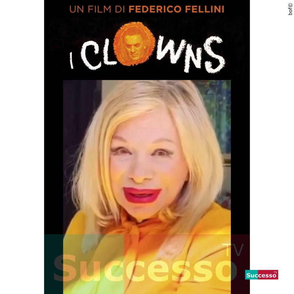 le cartoline di successo tv 2020 sandra milo fellini clown