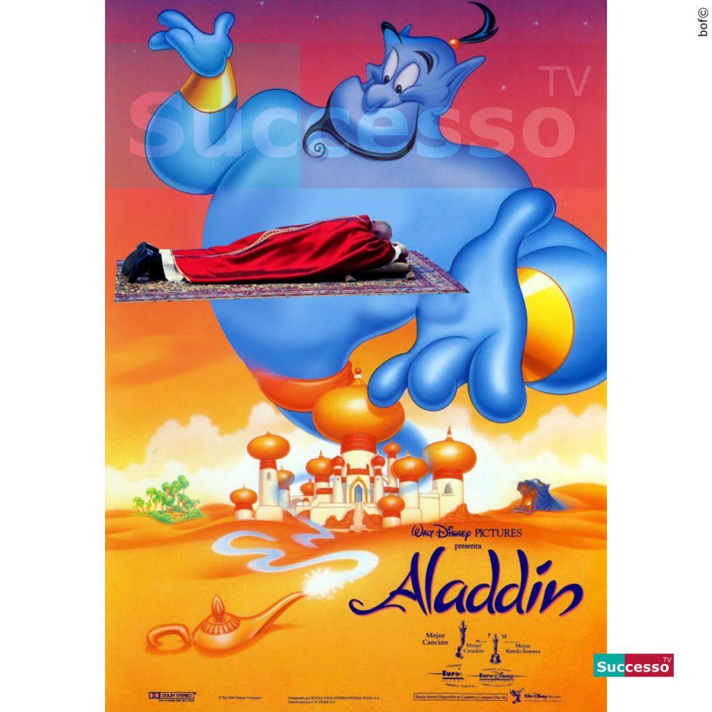 le cartoline di successo tv 2020 aladdin papa francesco