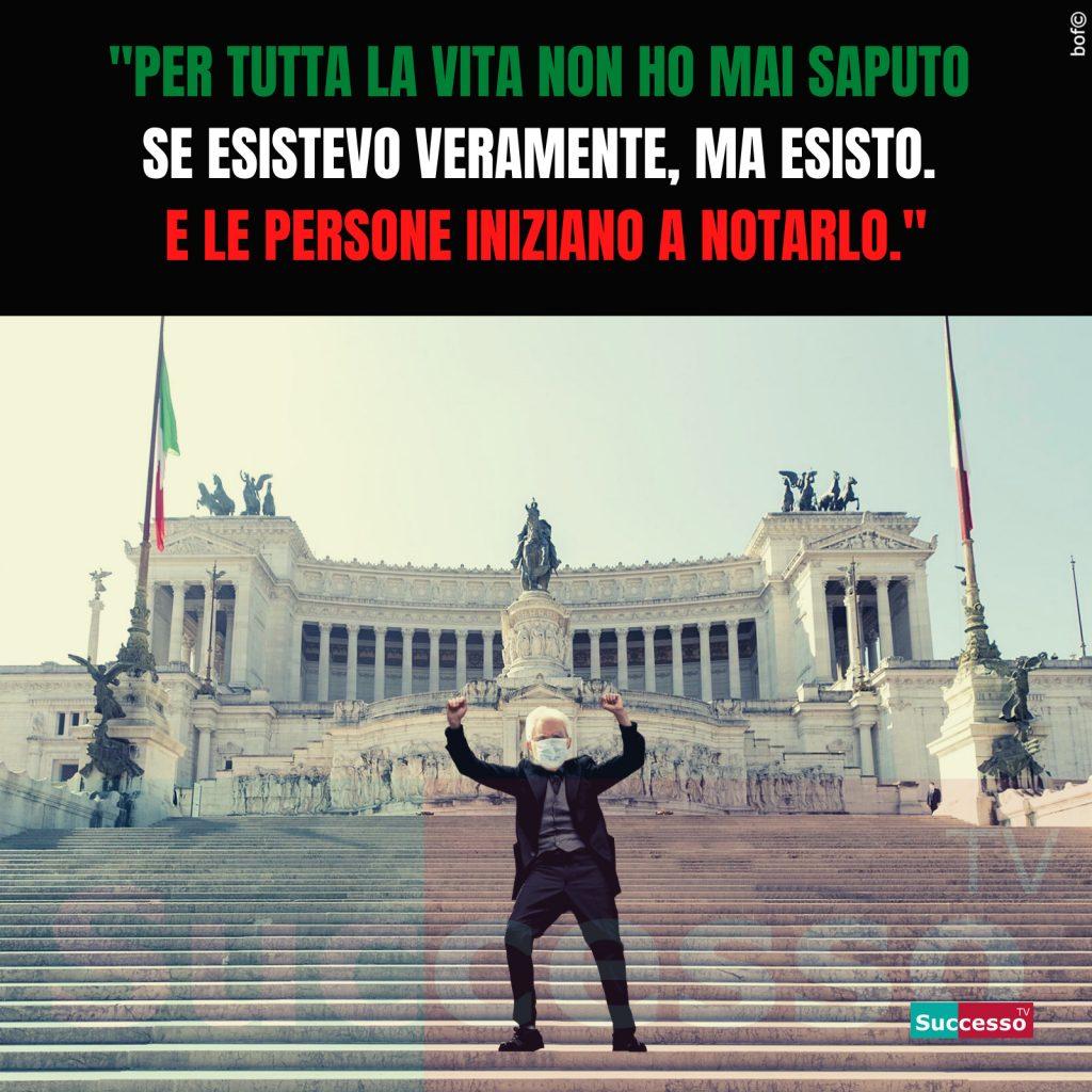le cartoline di successo tv 2020 mattarella piazza venezia 25 aprile