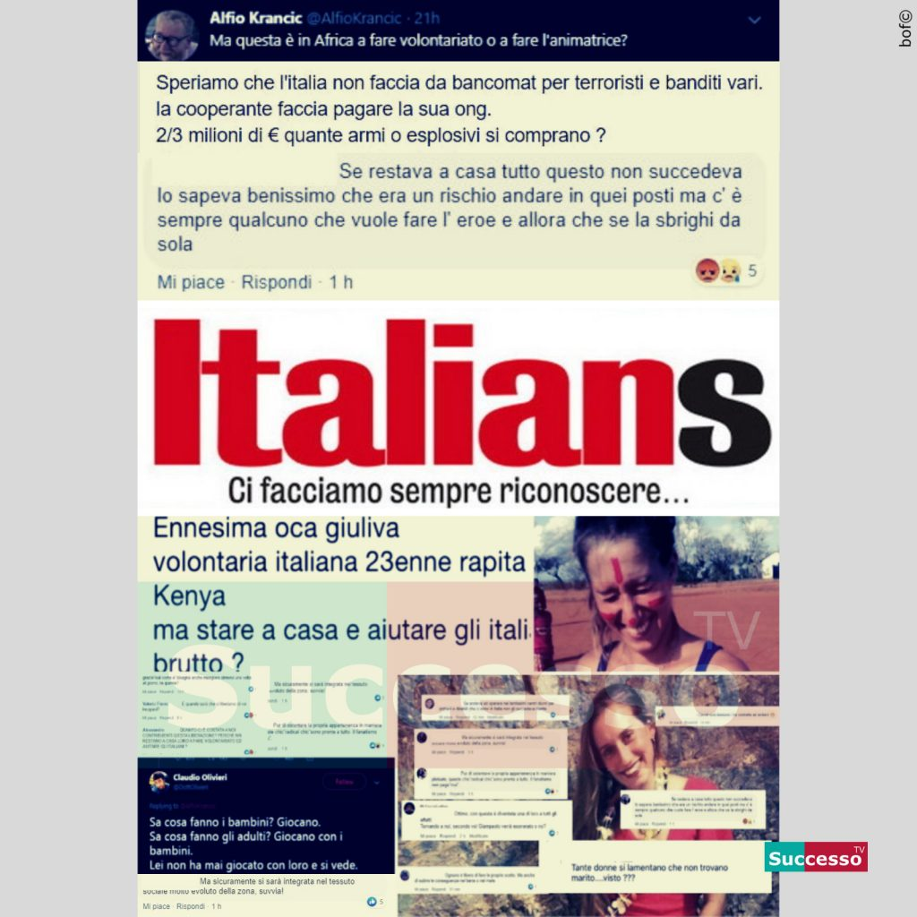 le cartoline di successo tv 2020 Razzismo Italia Italiani Silvia Romano