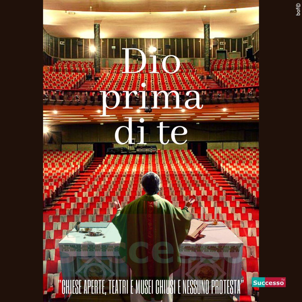 le cartoline di successo tv 2020 Coronavirus Teatro Chiesa