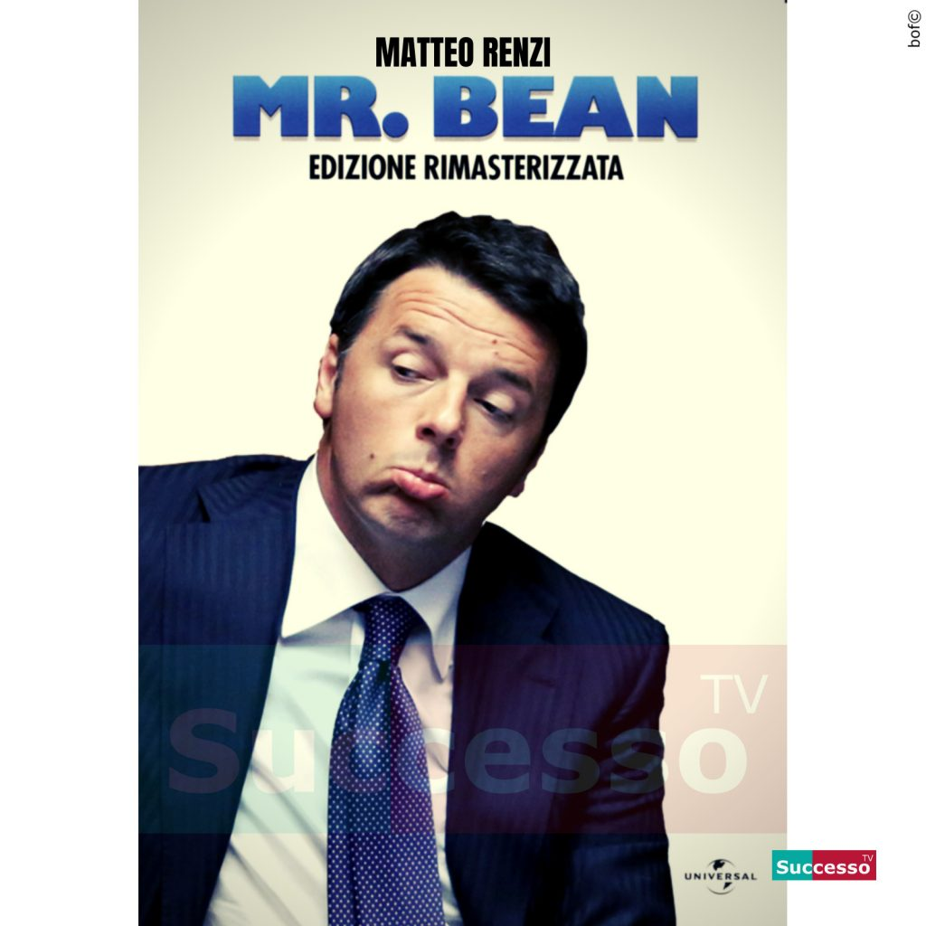 le cartoline di successo tv 2020 Matteo Renzi Mr Bean