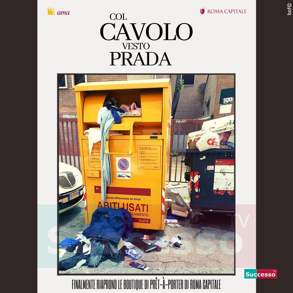 le cartoline di successo tv 2020 Prada
