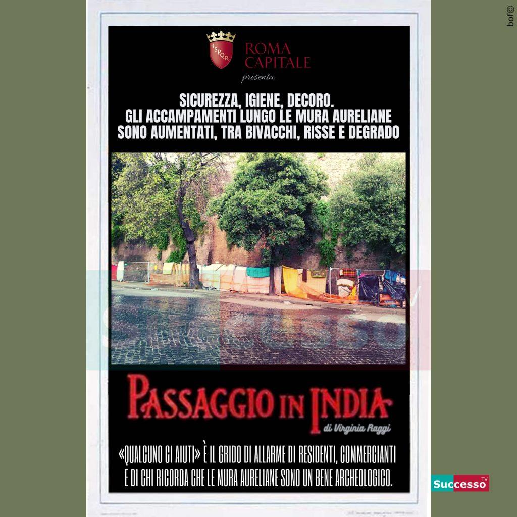 le cartoline di successo tv 2020 Roma Virginia Raggi Degrado
