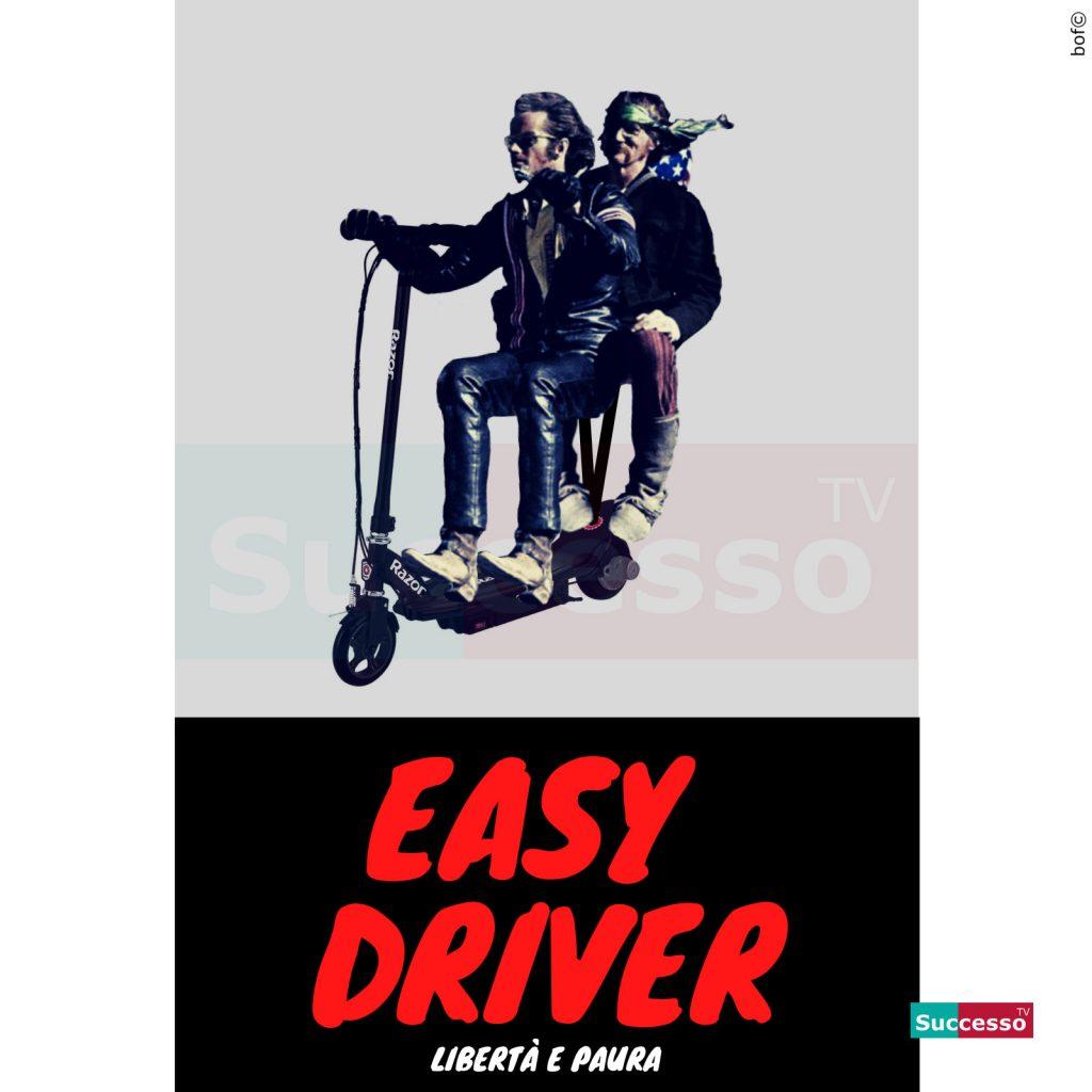 le cartoline di successo tv 2020 Easy Rider Monopattino