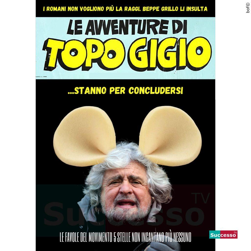 le cartoline di successo tv 2020 Beppe Grillo Topo Gigio