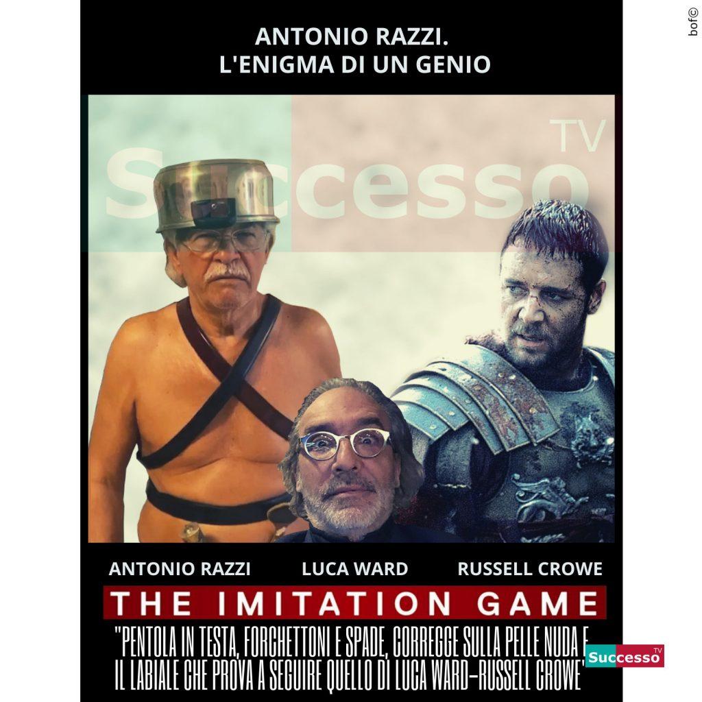 le cartoline di successo tv 2020 Senatore Razzi Gladiatore Imitazione
