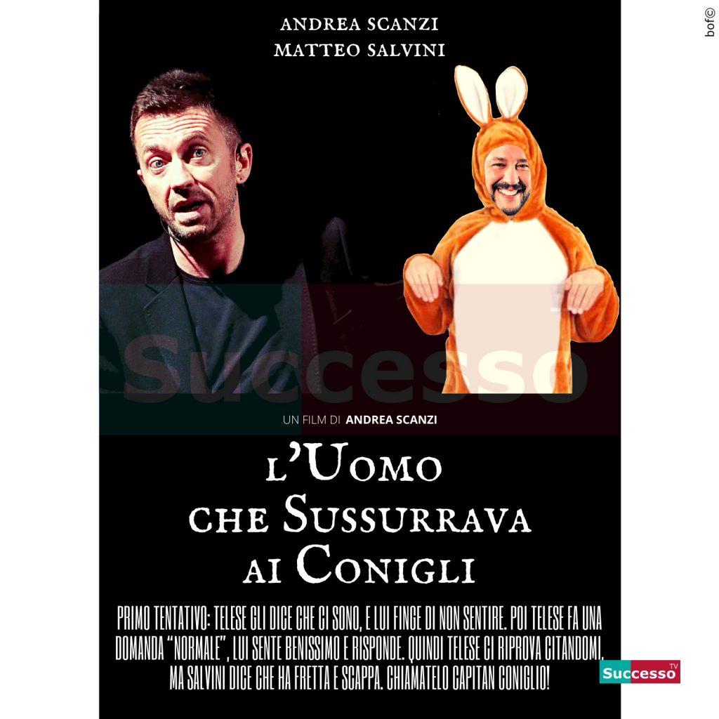 le cartoline di successo tv 2020 Andrea Scanzi Matteo Salvini