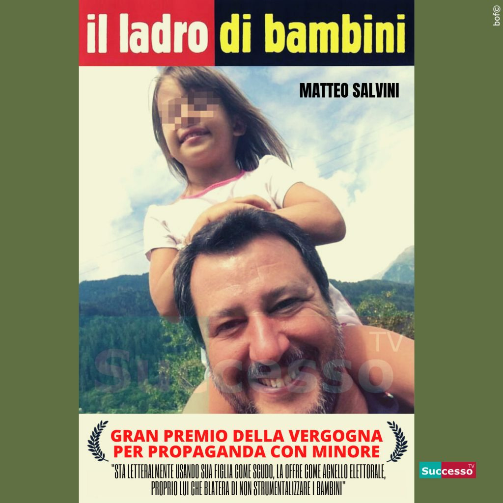 le cartoline di successo tv 2020 Matteo Salvini Bambini figli