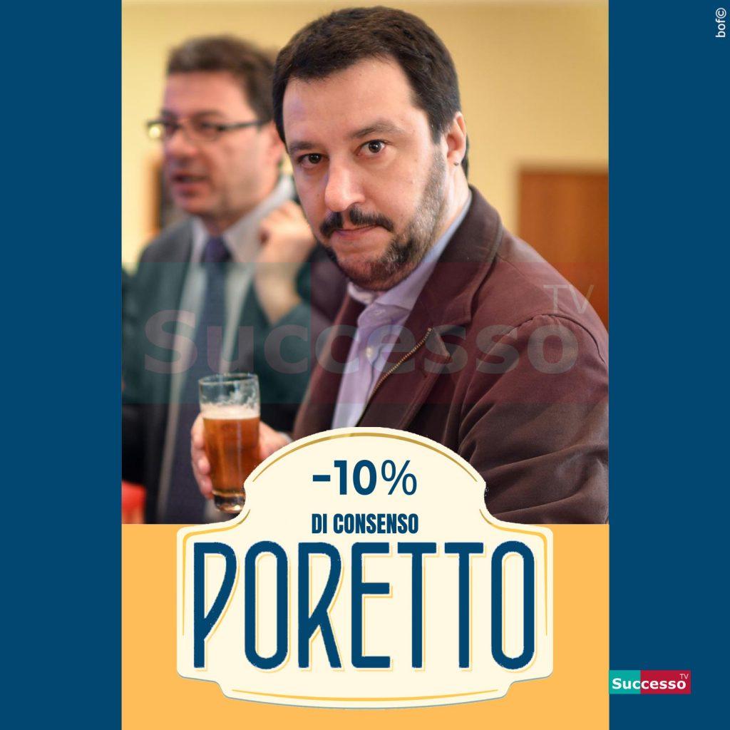le cartoline di successo tv 2020 Matteo Salvini Birra Poretti