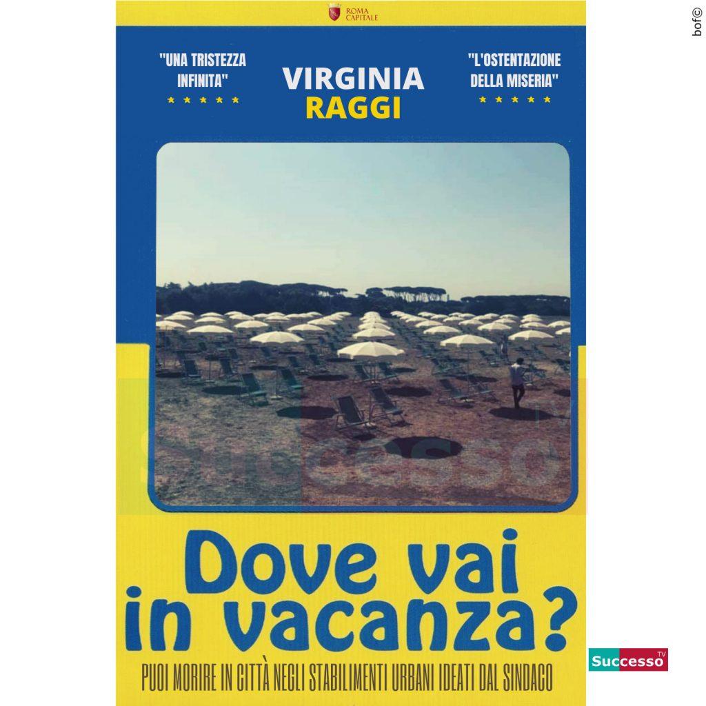 le cartoline di successo tv 2020 Vacanze Roma Virginia Raggi Parco