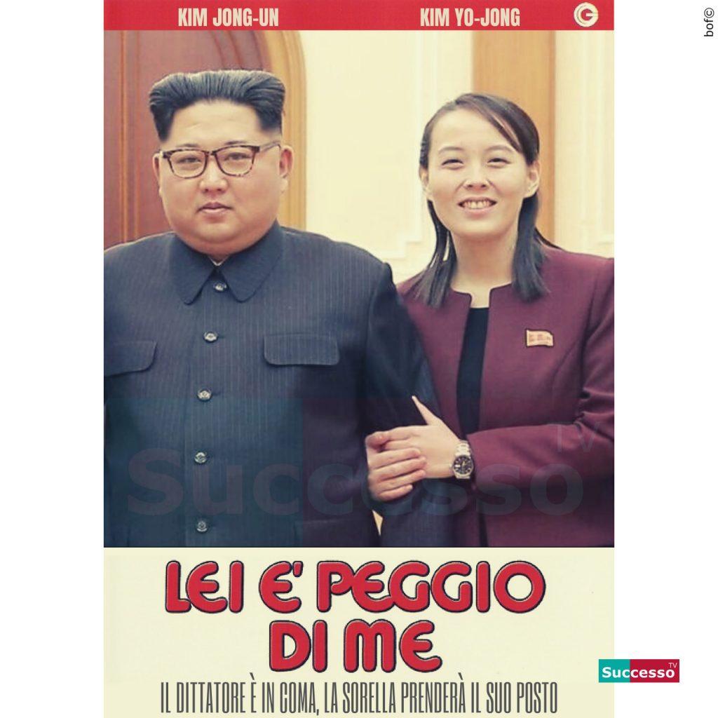 le cartoline di successo tv 2020 Kim Jong Un Sorella