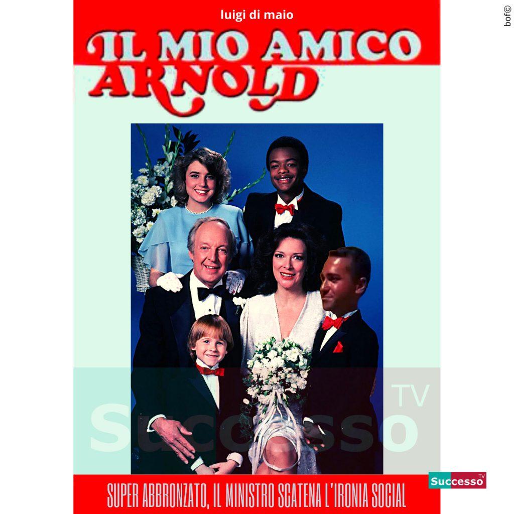 le cartoline di successo tv 2020 Luigi Di Maio Abbronzato