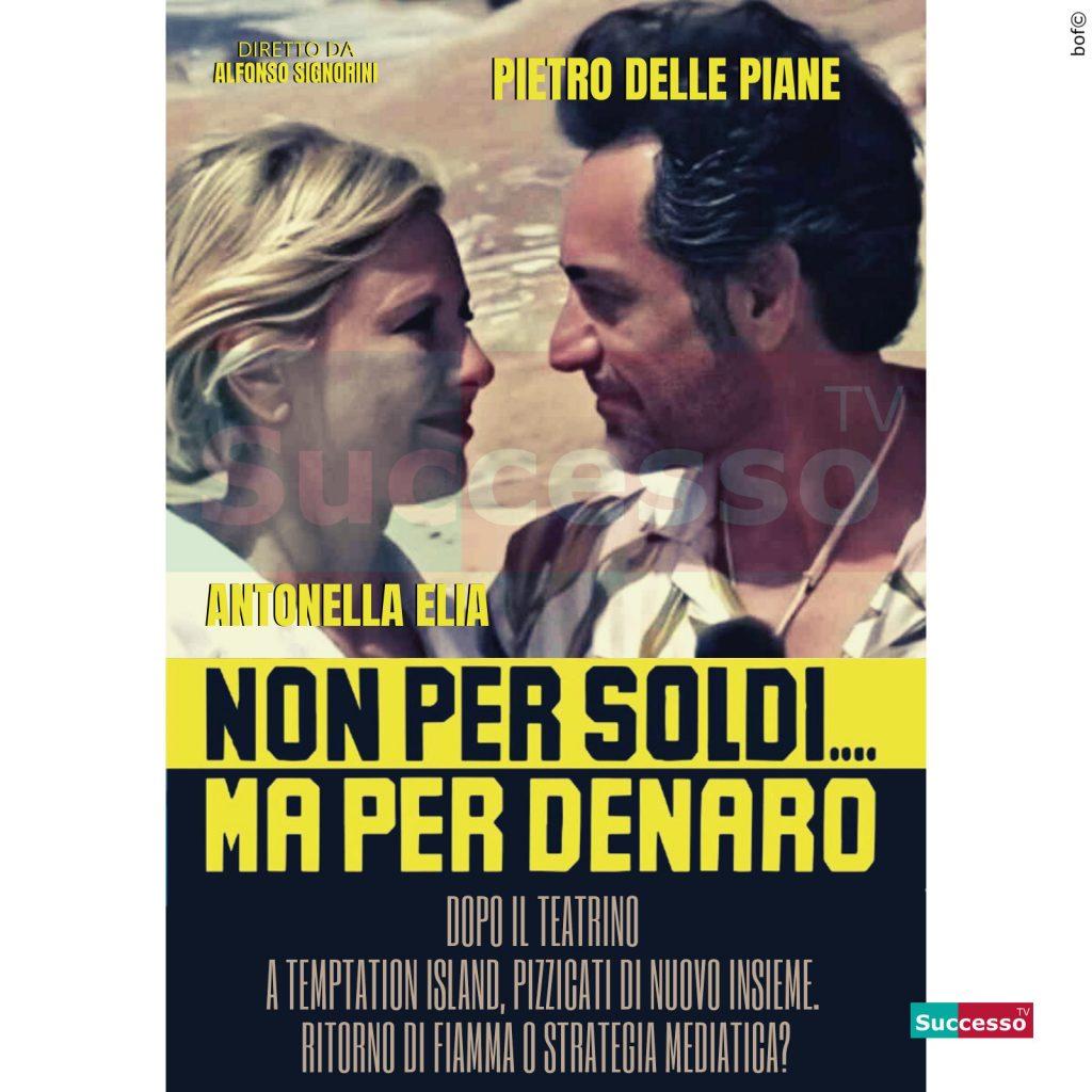 le cartoline di successo tv 2020 Antonella Elia Pietro Delle Piane Temptation Island
