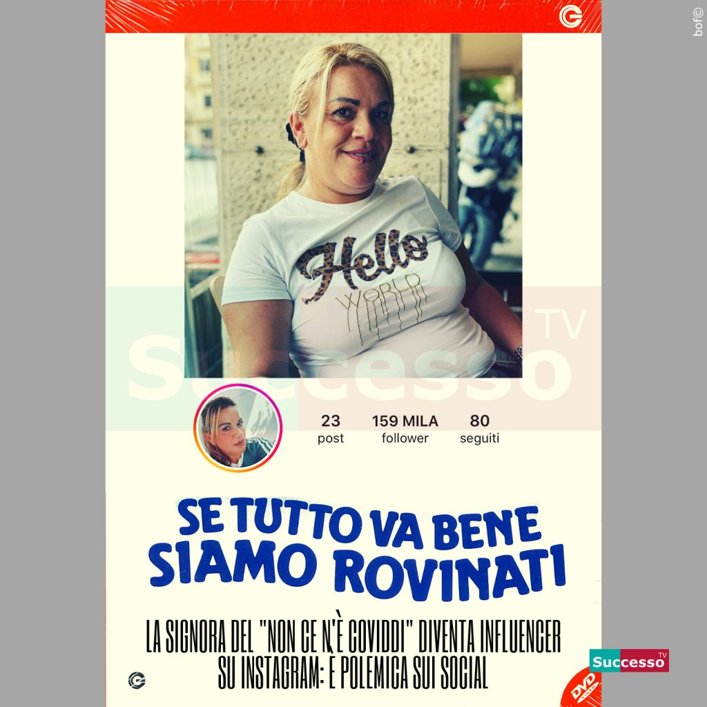 le cartoline di successo tv 2020 Angela Chianello coviddi