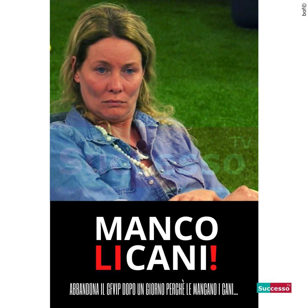 le cartoline di successo tv 2020 Gfvip Flavia Vento
