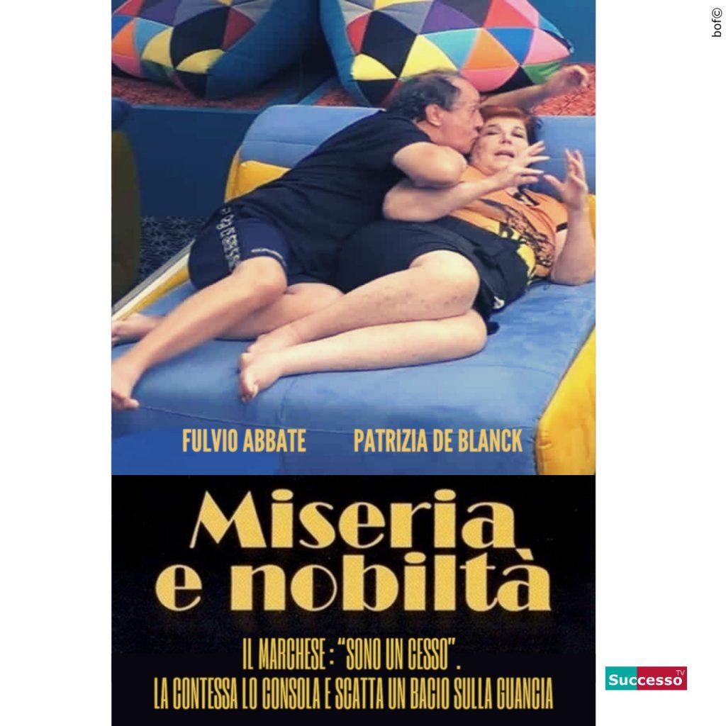 le cartoline di successo tv 2020 Gfvip Fulvio Abbate Patrizia De Blanck