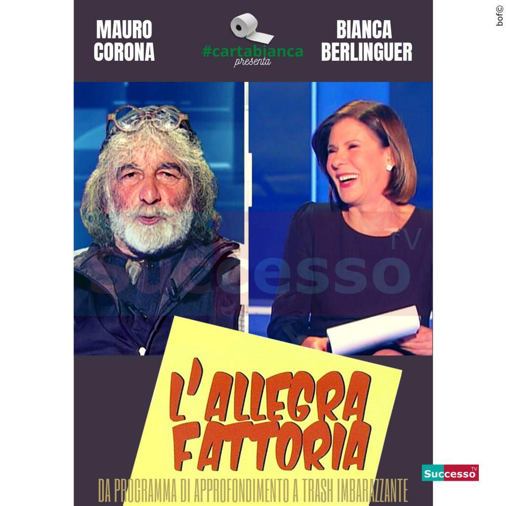 le cartoline di successo tv 2020 Bianca Berlinguer Cartabianca Mauro Corona