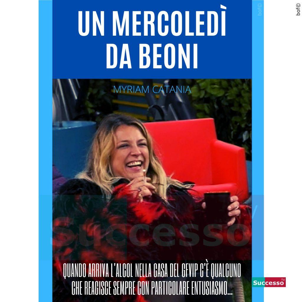 le cartoline di successo tv 2020 Gfvip Myriam Catania