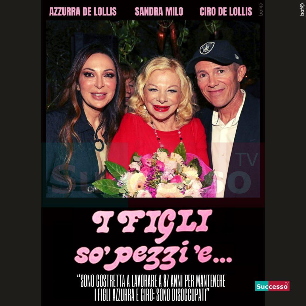 le cartoline di successo tv 2020 Sandra Milo figli