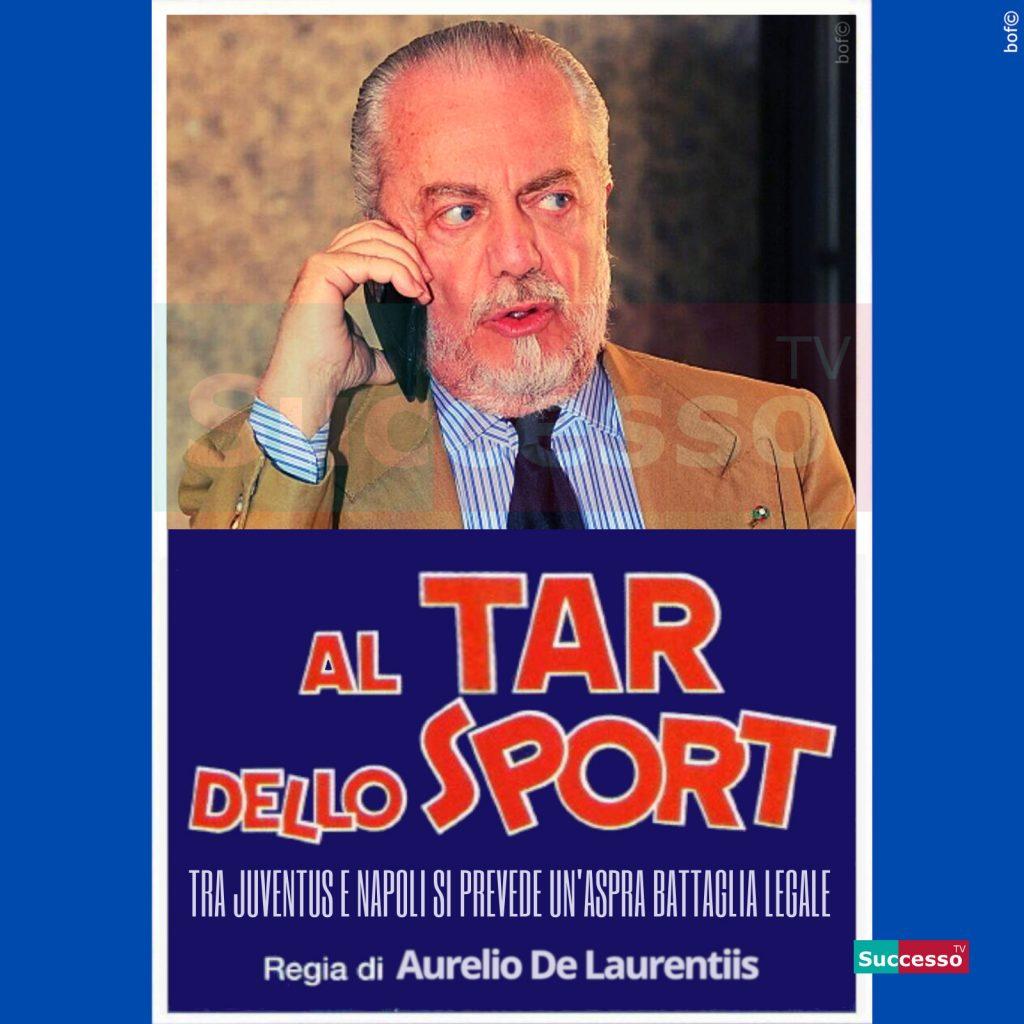 le cartoline di successo tv 2020 Napoli Juventus De Laurentis