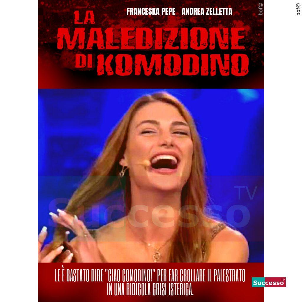 le cartoline di successo tv 2020 Gfvip Franceska Pepe Comodino Andrea Zelletta