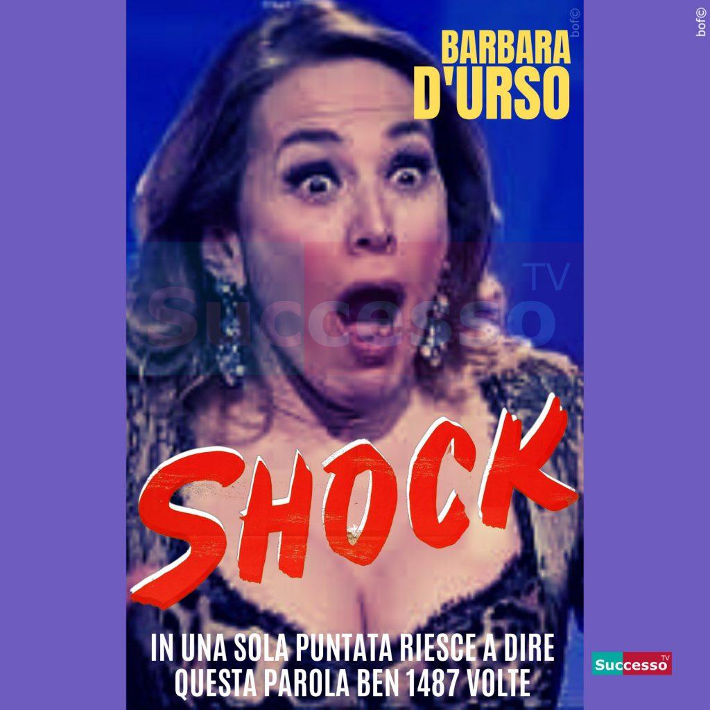 le cartoline di successo tv 2020 Barbara D'Urso Shock