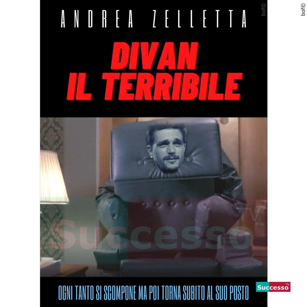 le cartoline di successo tv 2020 Gfvip Andrea Zelletta Comodino Divano