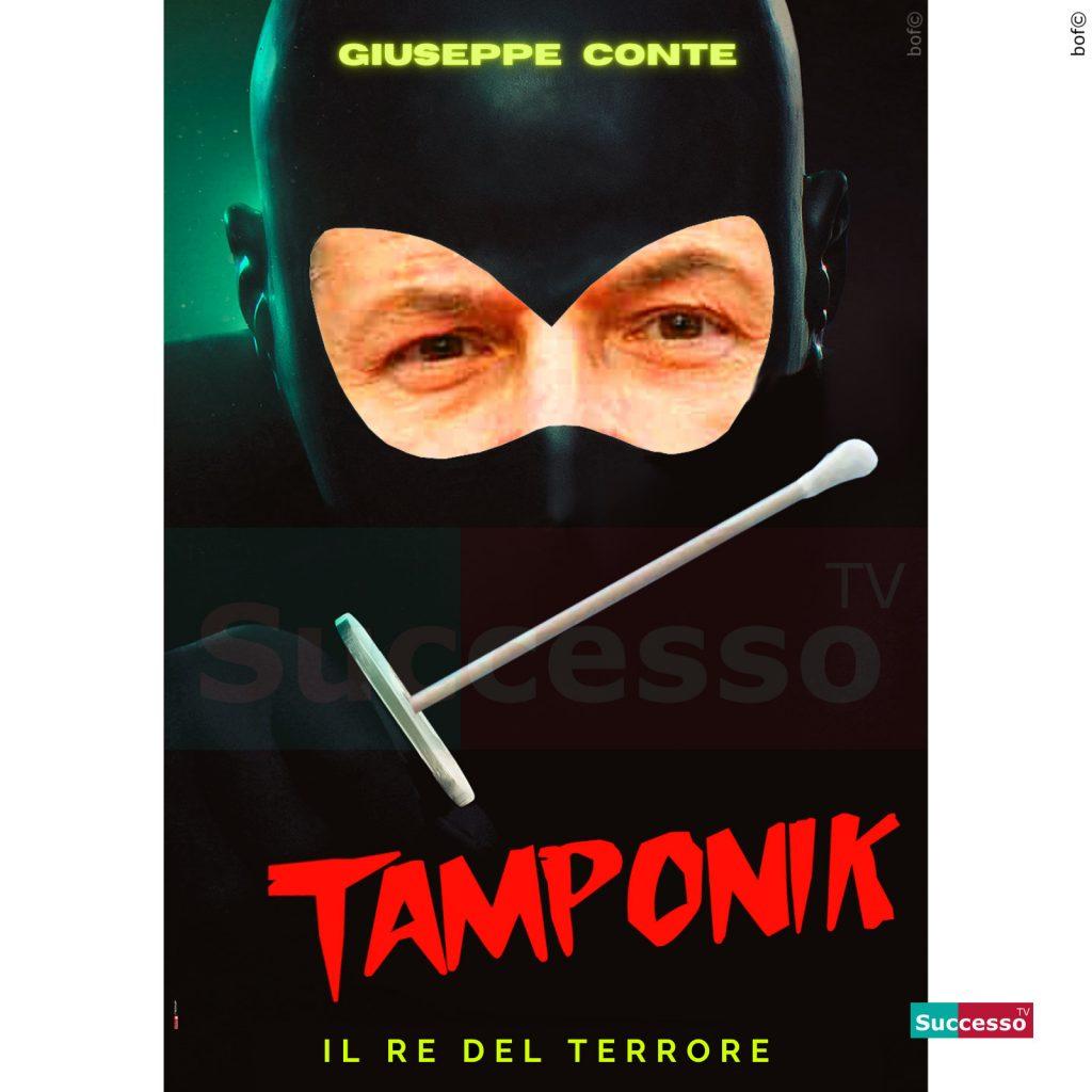 le cartoline di successo tv 2020 Diabolik Conte Coronavirus