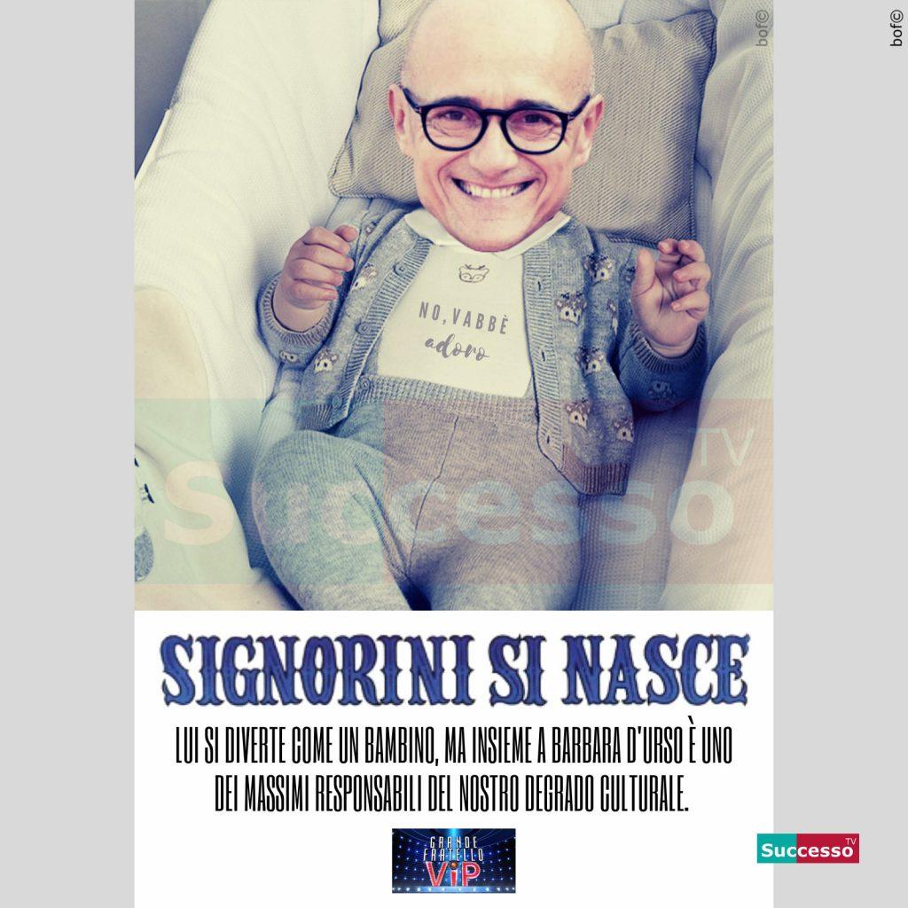 le cartoline di successo tv 2020 Gfvip Alfonso Signorini