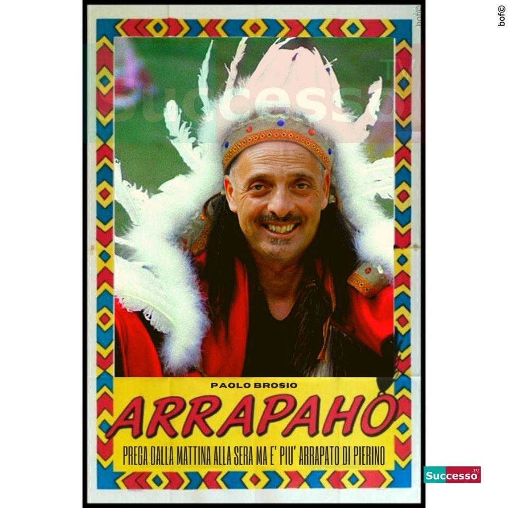 le cartoline di successo tv 2020 Gfvip Paolo Brosio Arrapaho