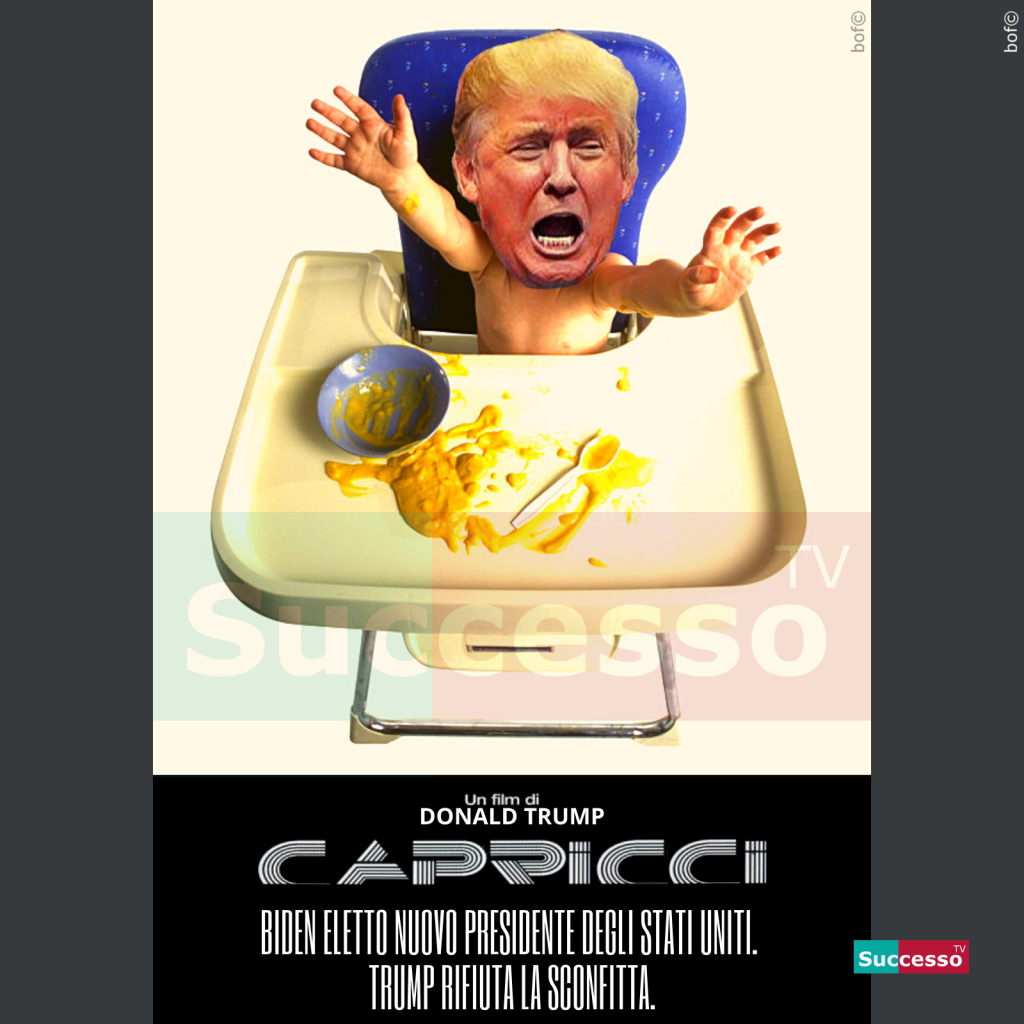 le cartoline di successo tv 2020 Donald Trump Elezioni Biden