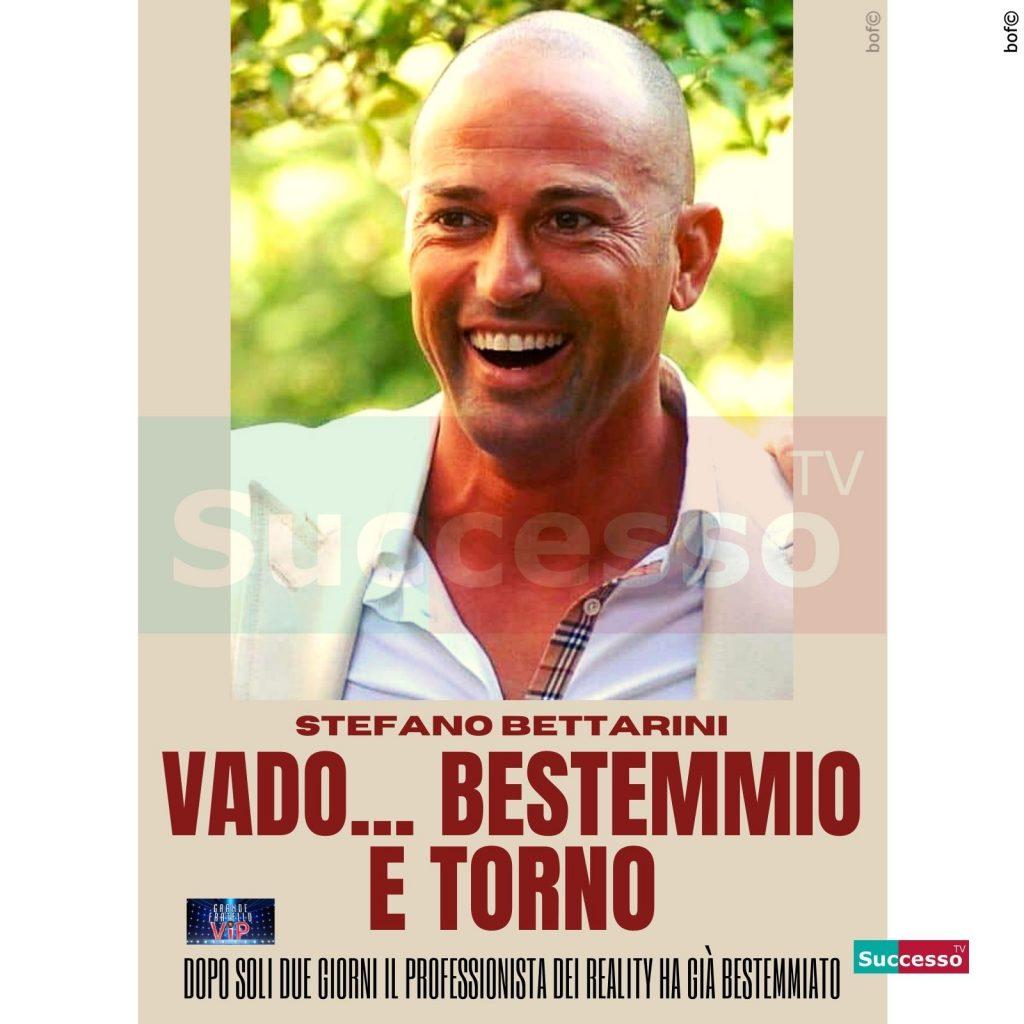 le cartoline di successo tv 2020 Gfvip Stefano Bettarini Bestemmia