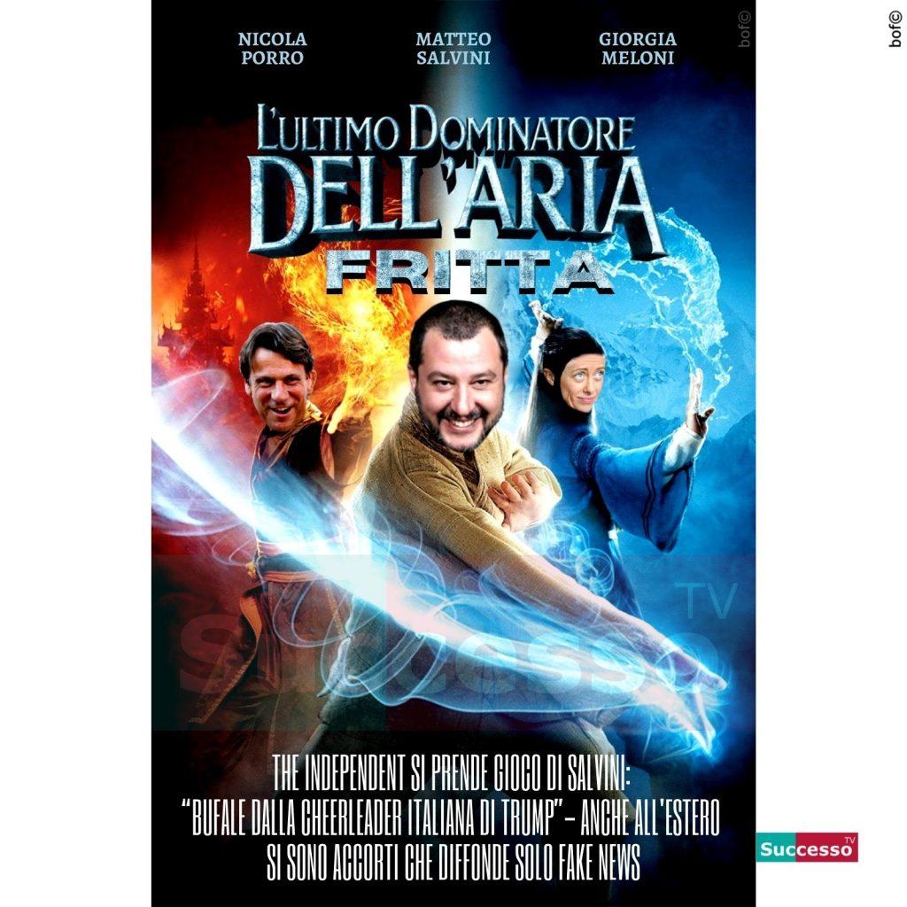 le cartoline di successo tv 2020 Matteo Salvini Giorgia Meloni Nicola Porro