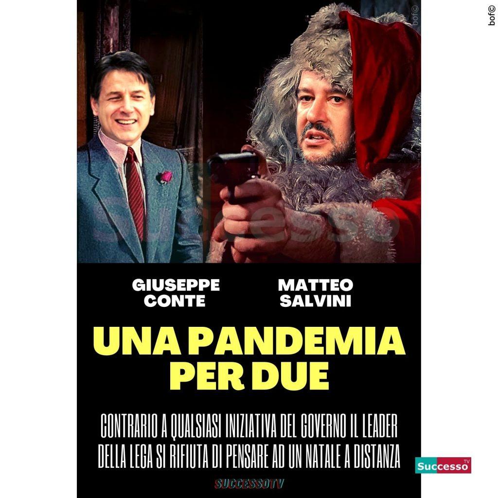 le cartoline di successo tv 2020 Matteo Salvini Natale Giuseppe Conte Pandemia Coronavirus Lockdown