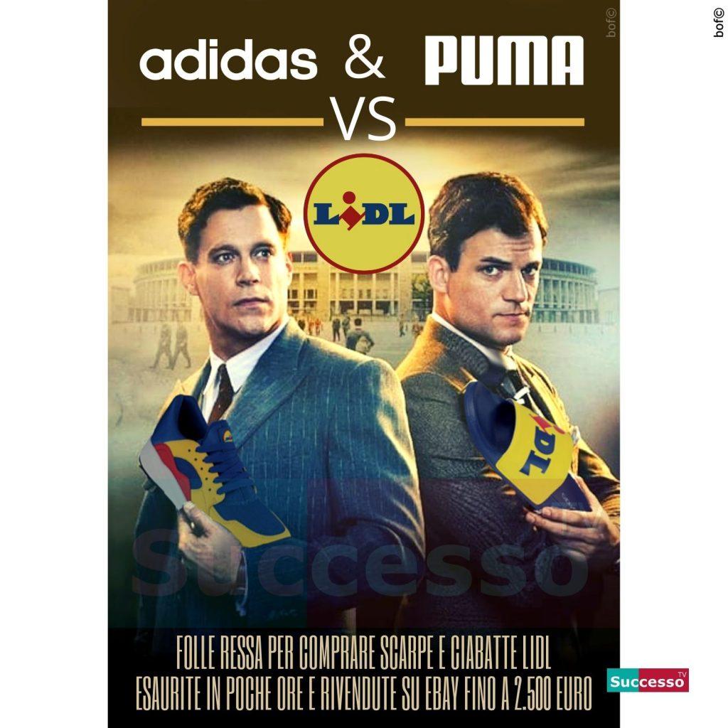 le cartoline di successo tv 2020 Scarpe Lidl Puma Adidas