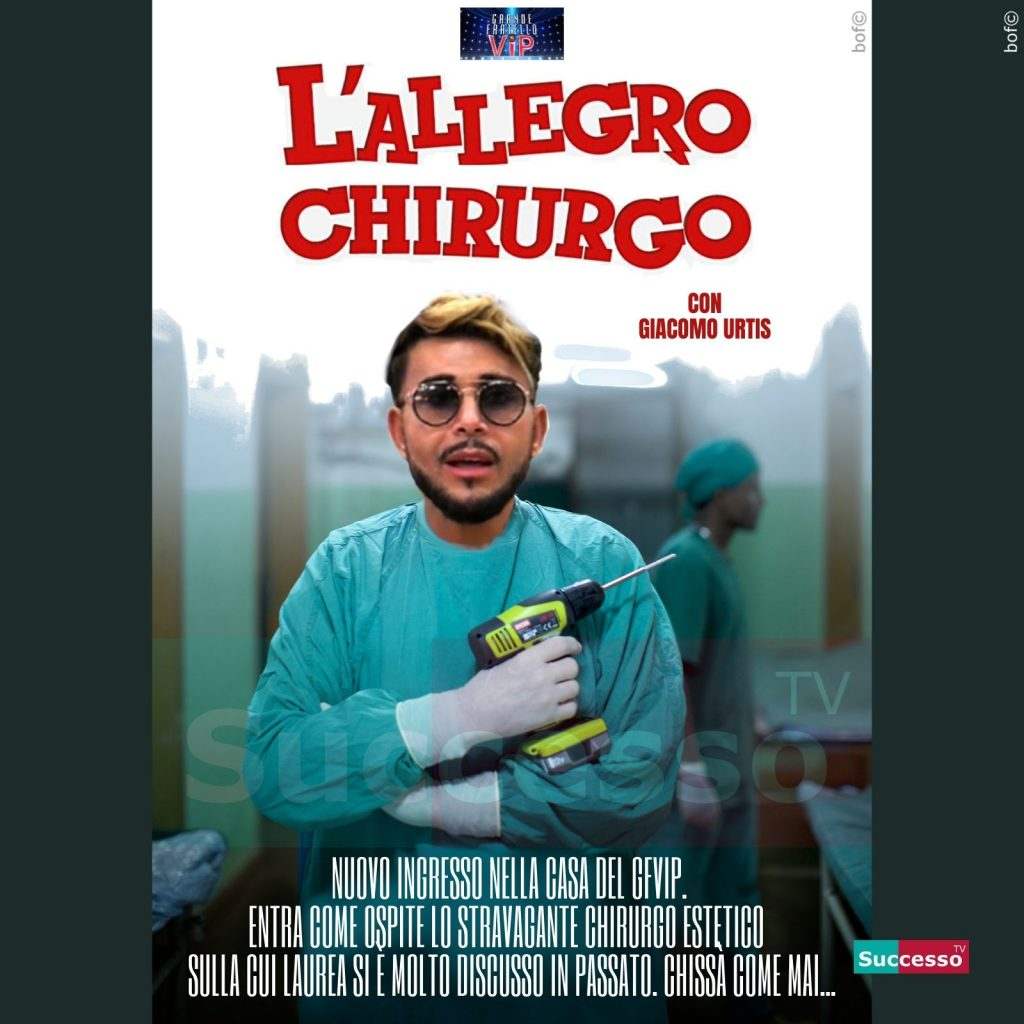 le cartoline di successo tv 2020 Gfvip Giacomo Urtis Chirurgo