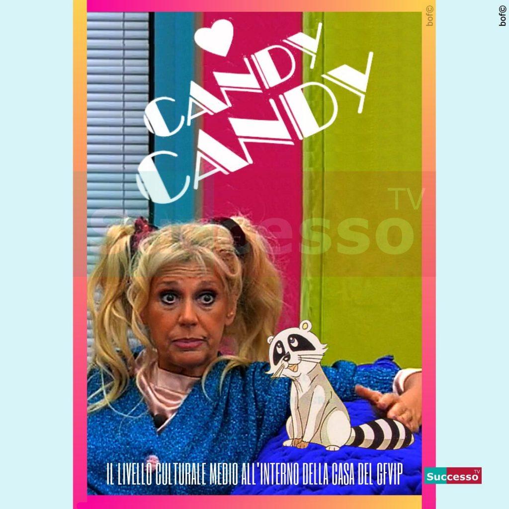 le cartoline di successo tv 2020 Gfvip Maria Teresa Ruta Candy Candy