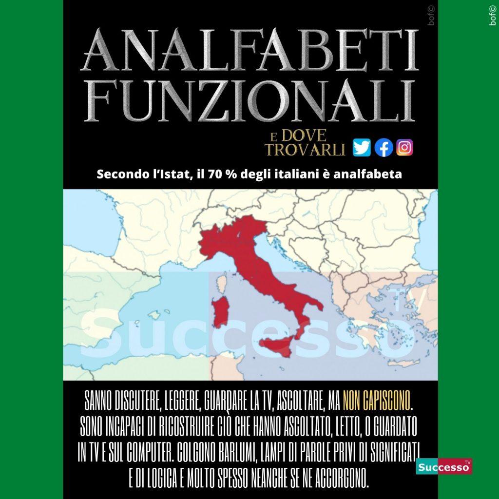 le cartoline di successo tv 2020 Analfabeti funzionali italia